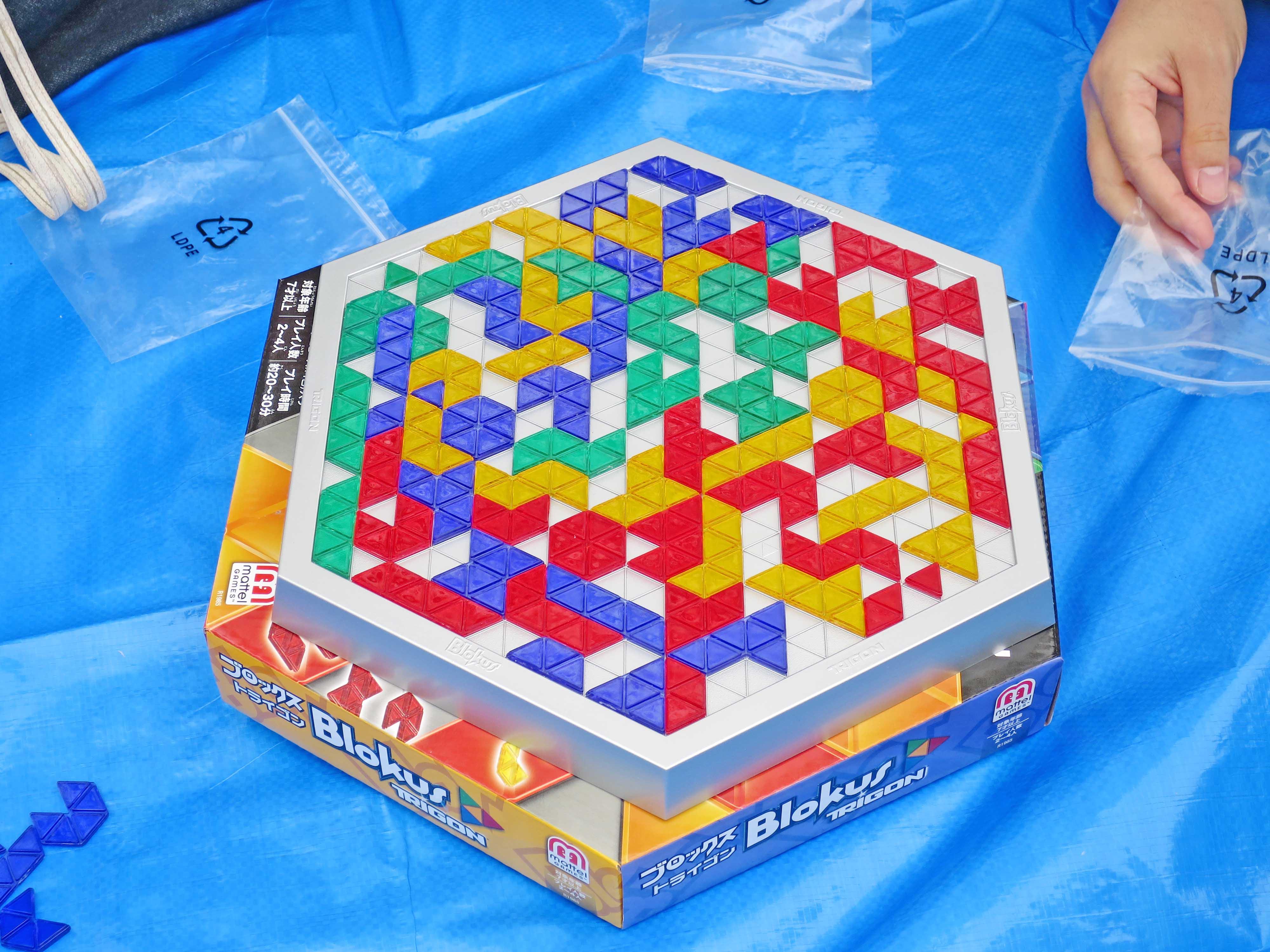 当事業所のBlokusのボードは六角形です(終局間近)