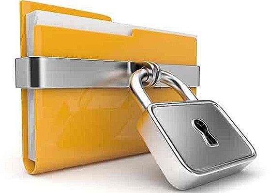 書類にはパスワードでロックを…