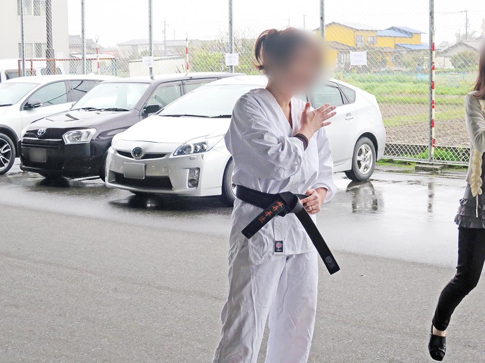担当スタッフは少林寺拳法経験者、胴着も着用済み