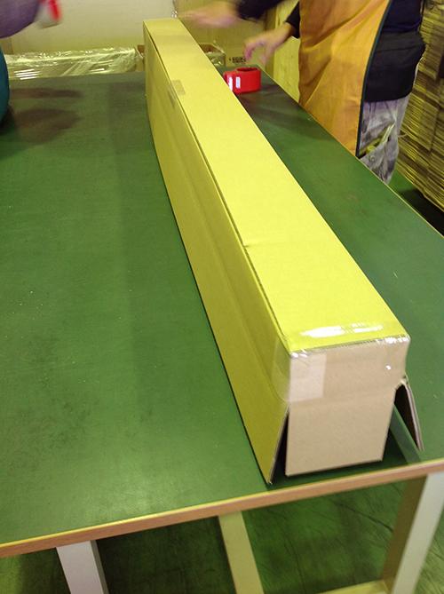段ボールの横の長さは150cm程度