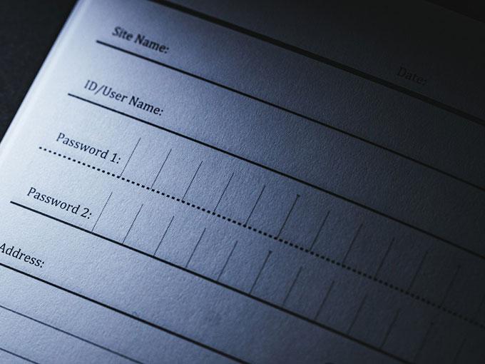 パスワード管理帳