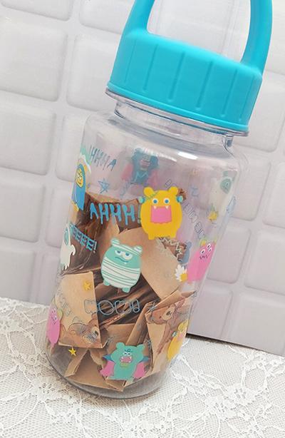 幸せ貯金の瓶